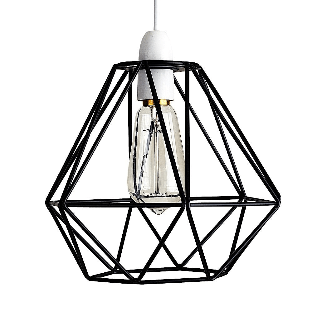 Diablo Black Wire Frame Non Electric Pendant Shade ... on Non Wired Wall Sconces id=16215