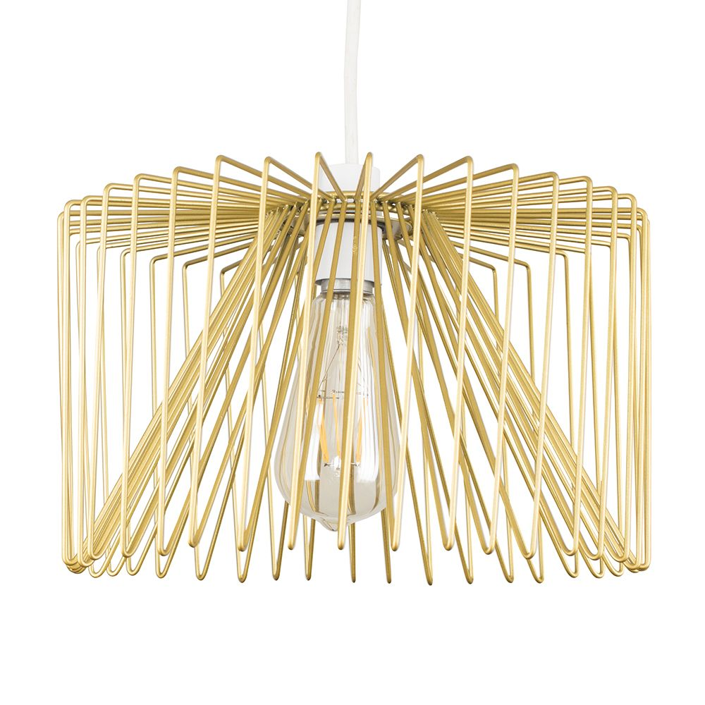 Amadeus Wire Non Electric Pendant Shade Gold - Ledlam Lighting on Non Wired Wall Sconces id=36742
