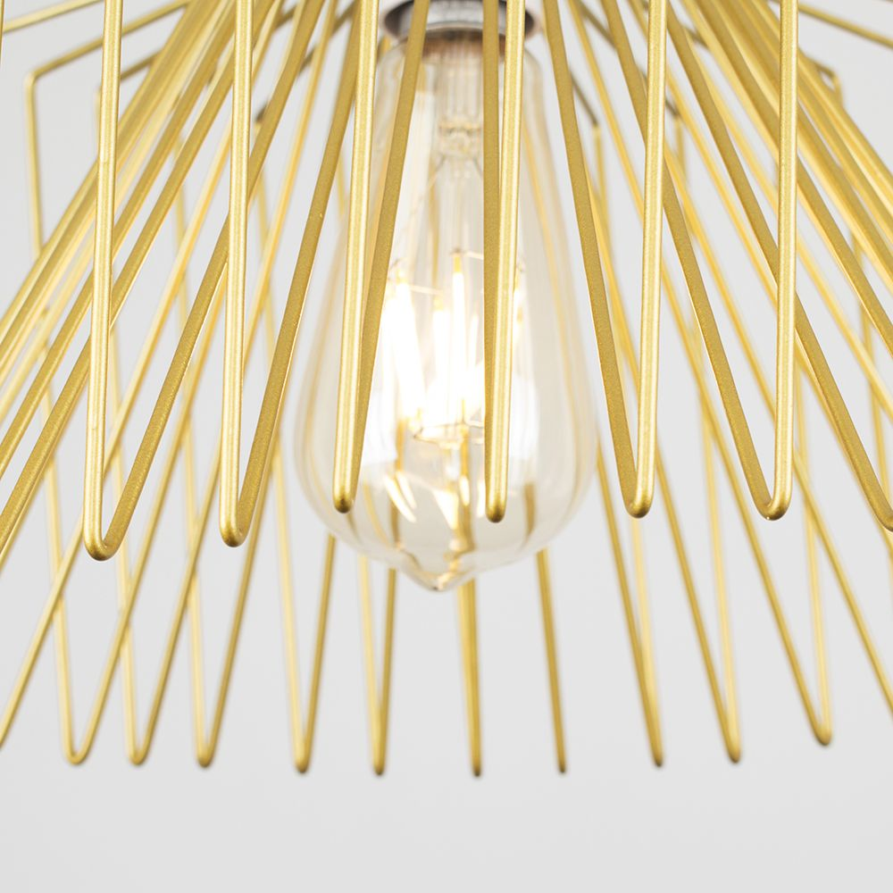 Amadeus Wire Non Electric Pendant Shade Gold - Ledlam Lighting on Non Wired Wall Sconces id=20471