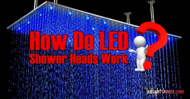 how do led shower heads work