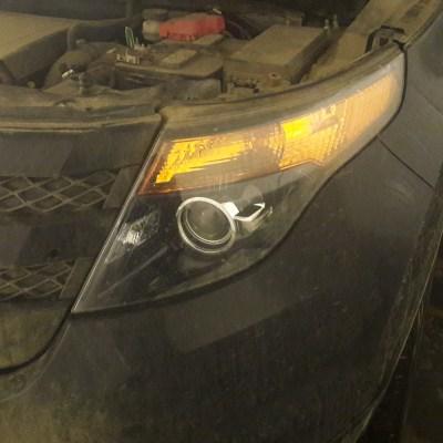 Замена галогенных линз на Hella 3R и тюнинг оптики Ford Explorer