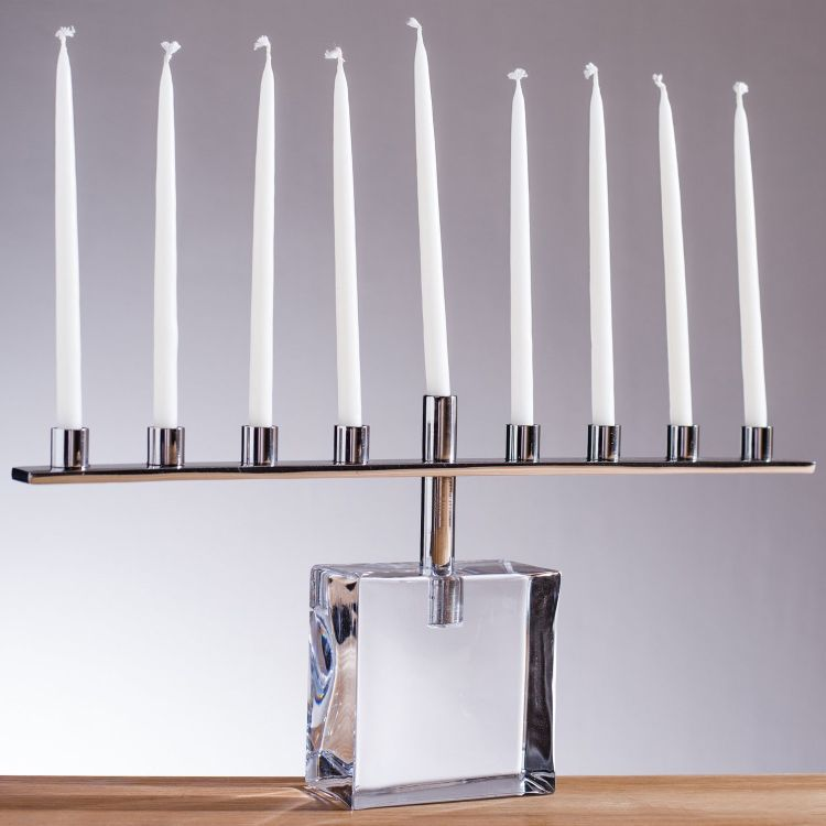 modern meets traditional with this Menorah