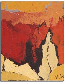 Ocre 2 Huile sur toile 15cm x 22cm (Réservé)