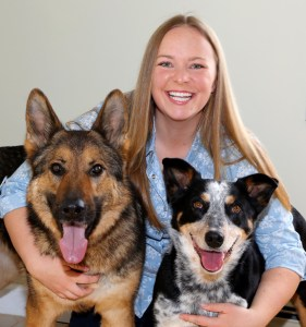 Laura and 2 dogs 2