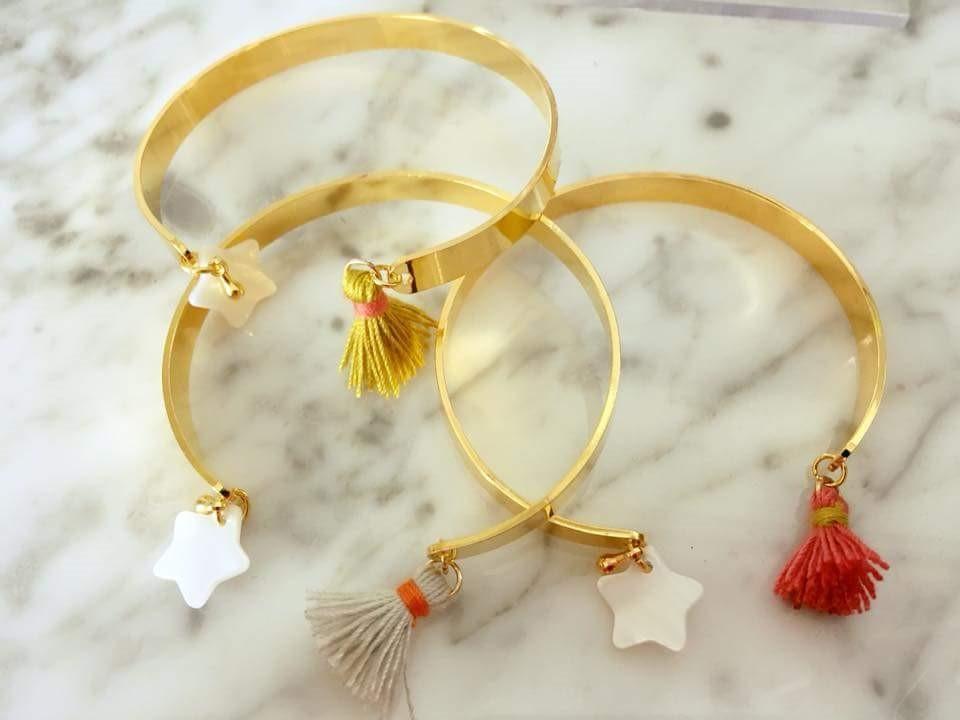 3 bracelets ouverts de la boutique de bichette