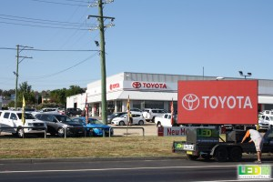 LED Screens Australia Toyota hire
