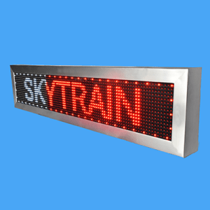 SINGLE COLOR MESSAGE DISPLAY (SKYM 3RS6)