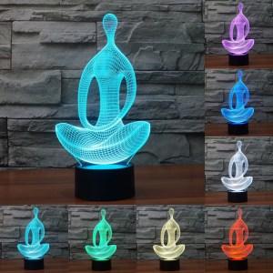 3D светильник Йога