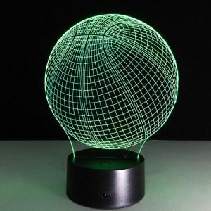 3D светильник Баскетбольный мяч