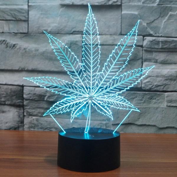 3D светильник Конопля