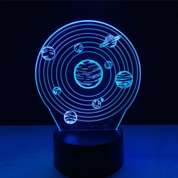3D светильник Планеты