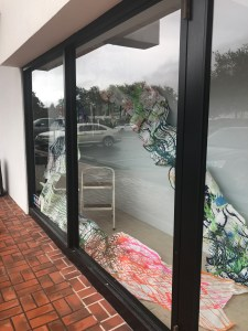 "©Lori Edwards , ""Fade Out"" 2017 mixed media installation , Julian Gold, Corpus Christi TX"