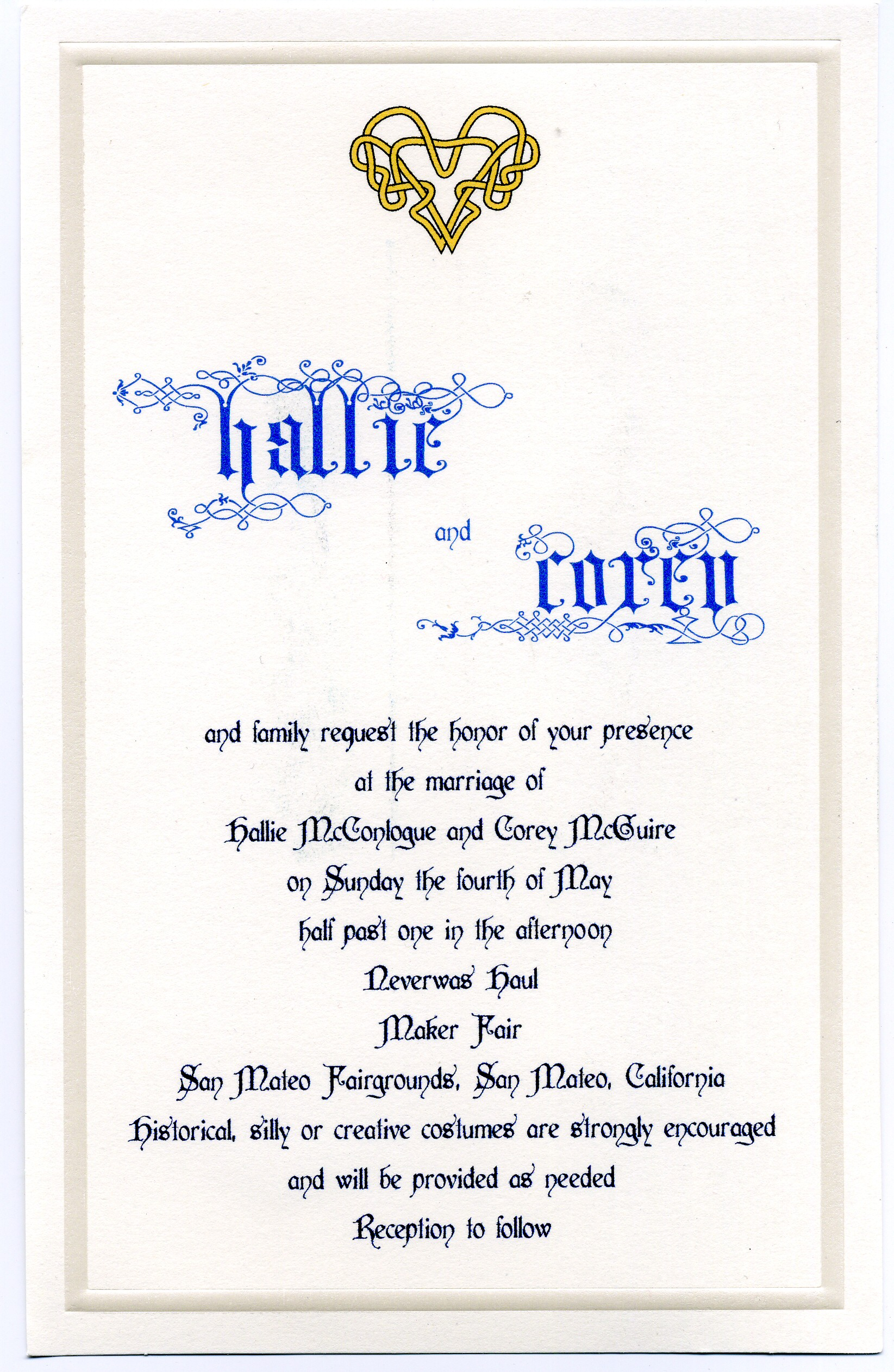 Lee blog archive the marriage of corey mcguire and hallie invite invite map stopboris Gallery