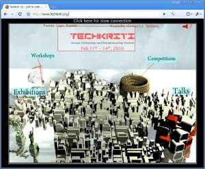 Techkriti Main Page