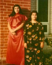 Guadalupe Garcia McCall as a teenager, standing with her mother