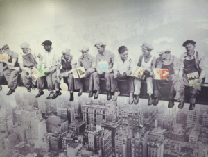 Mural in Korean publishing house