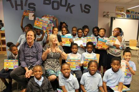 Frané and Mark with some happy readers
