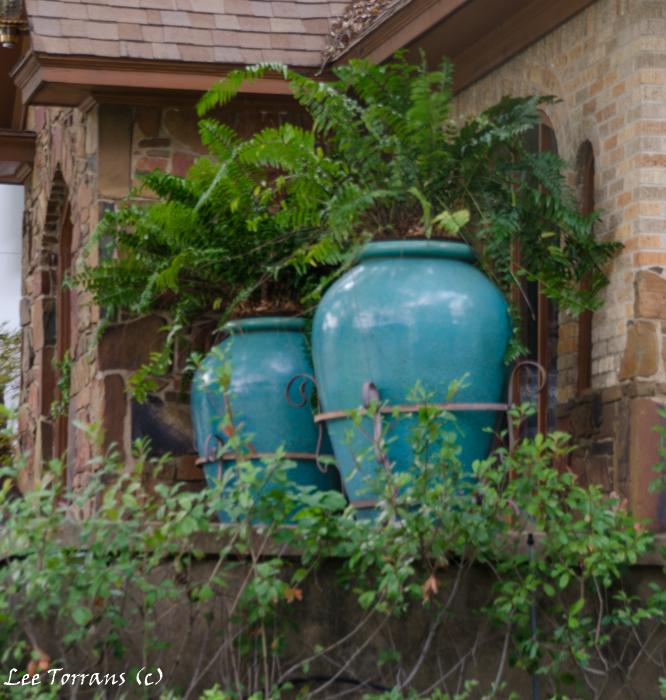 Turquoise Fern Urn