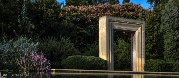 Framing beauty at the Dallas Woman's Garden of the Dallas Arboretum.