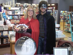 J.R. and I are ready for the day at Chapters Barrie. We are so excited to be here.