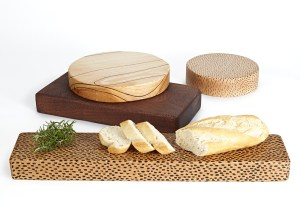 Hardwood Presentation Boards Tableware series by Lee Borthwick