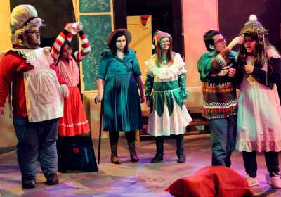 "Lee College actors prepare for ""Every Christmas Story Ever Told (And Then Some)."""
