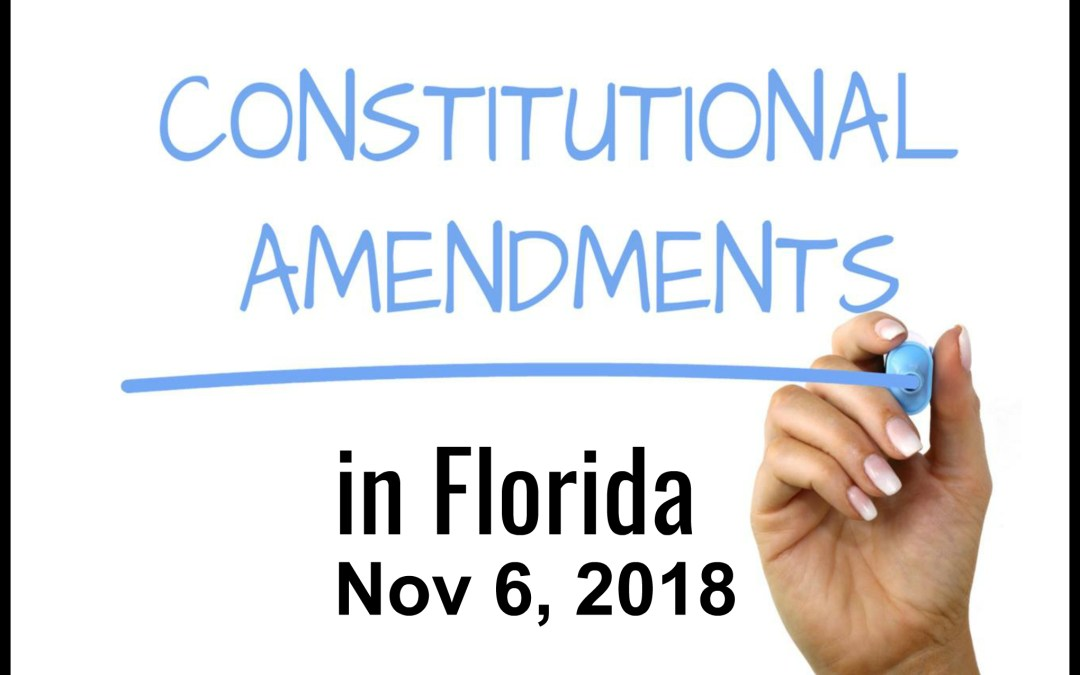 2018 Proposed Constitutional Amendments