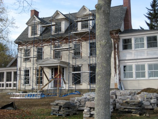 The Inn scraped and primed in front