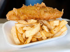 The average portion of fish and chips contains 838 calories. The average size adult burns 595 calories in a 70 minute game of field hockey.