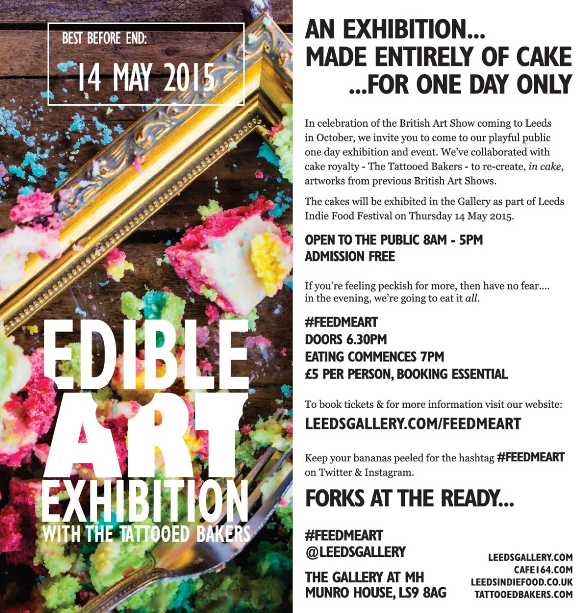 The Great Edible Art Exhibition, DL Flyer