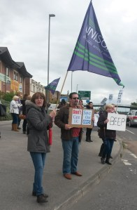 Care UK strikers protest in Leeds