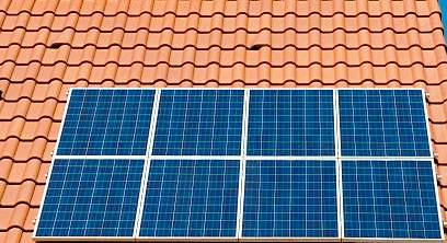 solar panel on roofs