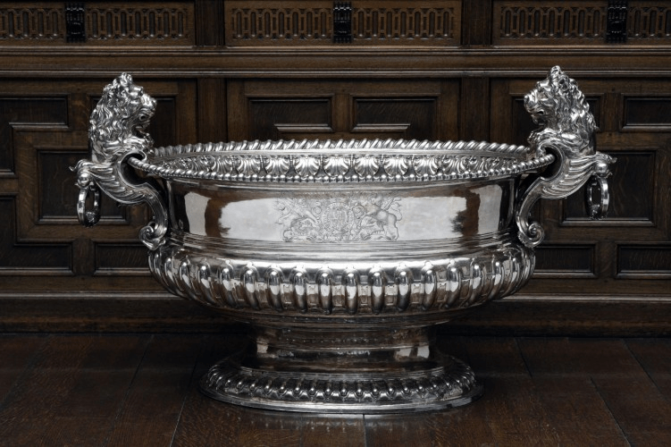 Silver wine cooler