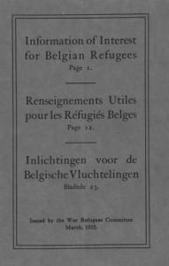 'Information of interest for Belgian refugees' booklet