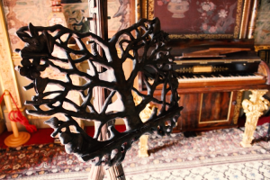 Song of Life by Graham Heeley, one of the seven stunning music stands on on display at Temple Newsam House