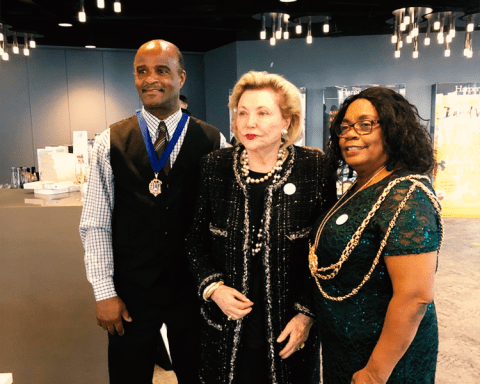The Lord Mayor and Consort with Barbara Taylor Bradford