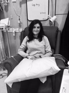 Lucy having chemo