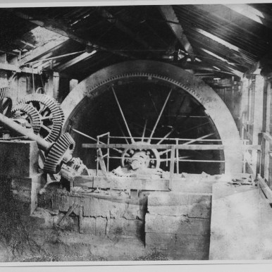 A pair of 19th century waterwheels at Armley Mills, once the world's largest woollen mill.