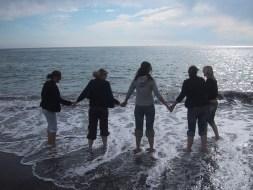 5 at the beach