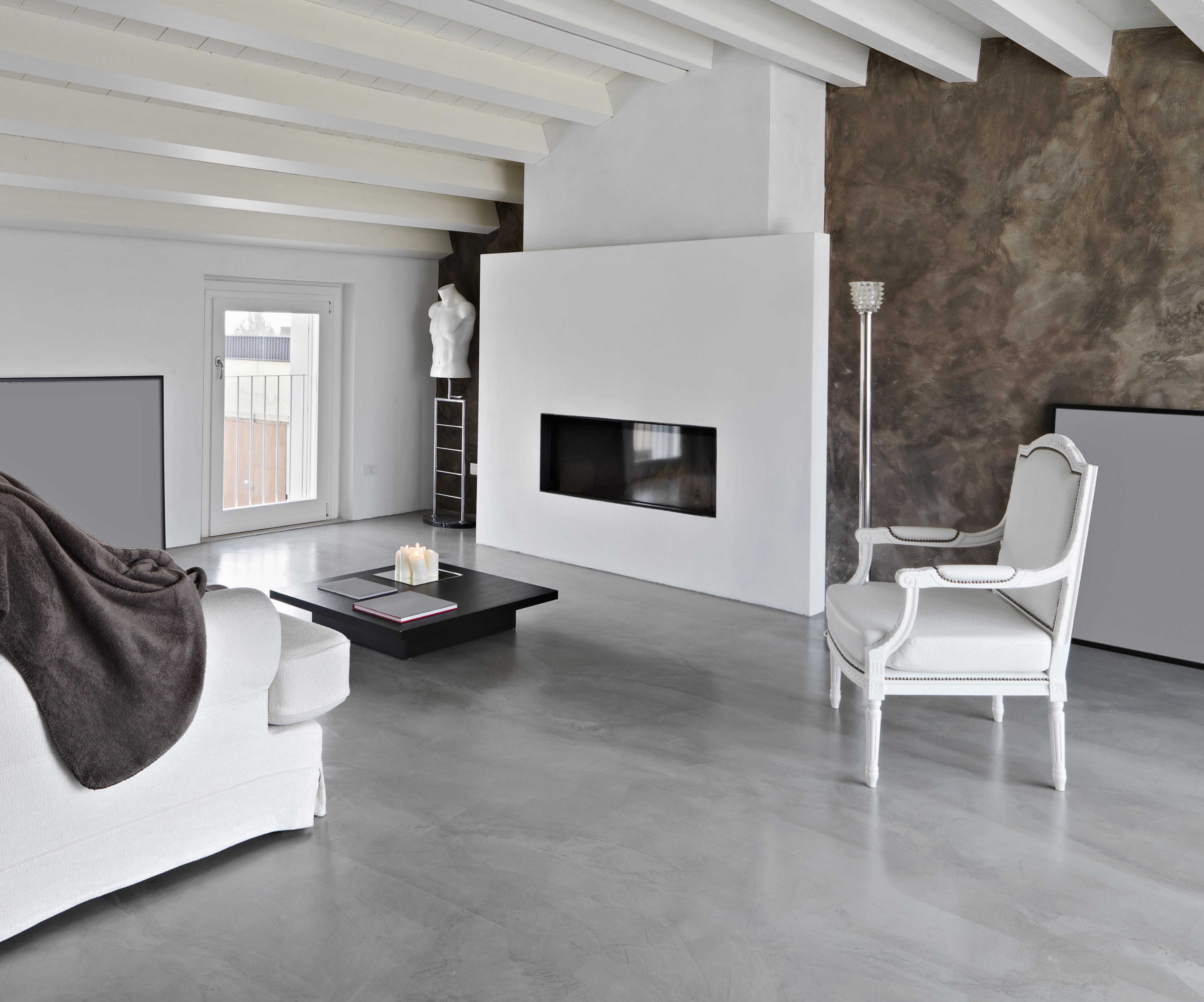 Betoon Look Vloer : Vloer woonkamer leef beton