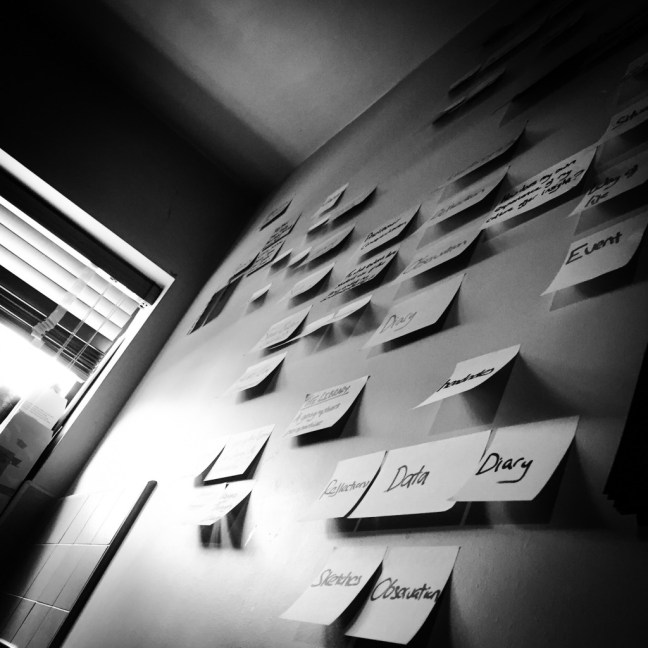 Post-it wall of ideas