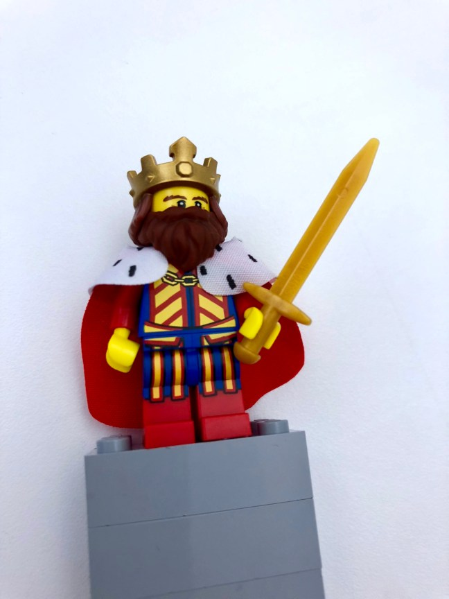 LEGO monarch with crown