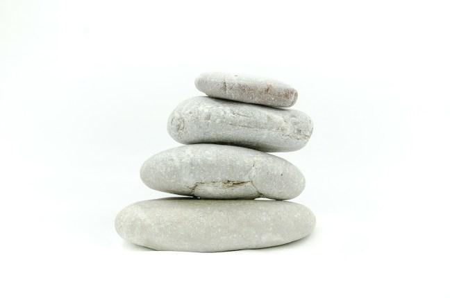Stacked Pebbles. Kinda Zen