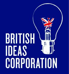 British Ideas Corporation logo in blue
