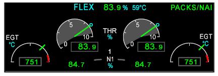 Engine displays