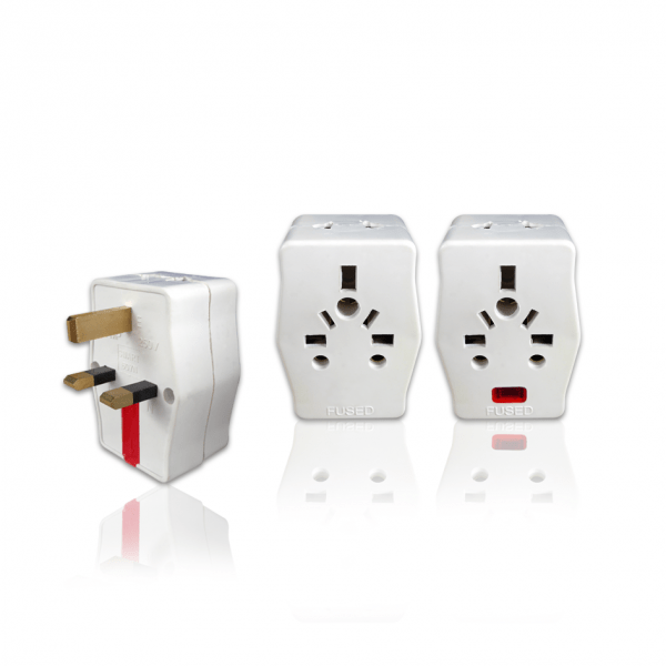 LEMAX 3 Way Adaptor with/without Neon (13amp)