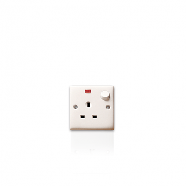 Switch Socket w/ Neon (13amp)
