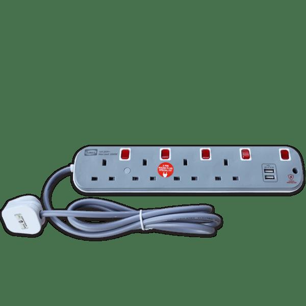 LEMAX USB Extension Socket (Grey) ES-314U