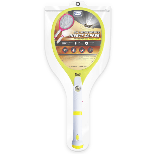 LEMAX 2 in 1 Rechargeable Insect Zapper (IZ-328Y) (Packaging)