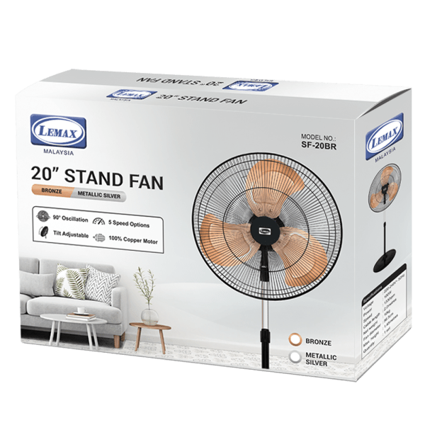 LEMAX 20'' Stand Fan Bronze SF-20BR